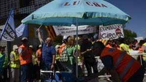 La última concentración de los examinadores de tráfico, frente a la sede central de la DGT en Madrid, tuvo lugar el pasado 25 de julio