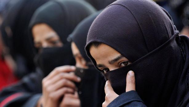 Mujeres musulmanas en Cachemira