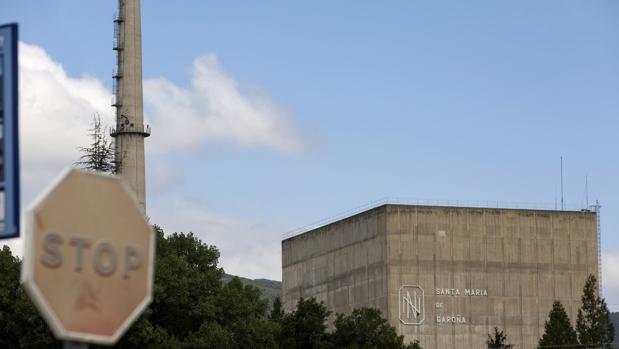 Vista del reactor de la central nuclear de Santa María de Garoña (Burgos)