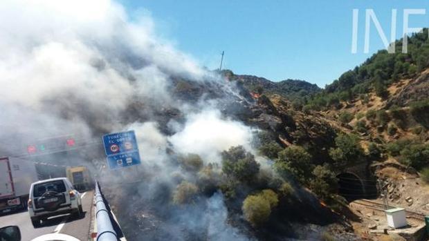 El incendio en Despeñaperros se declaró el domingo al mediodía