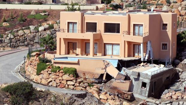 La zona de Es Cubells, en Ibiza, se ha visto afectada por el temporal