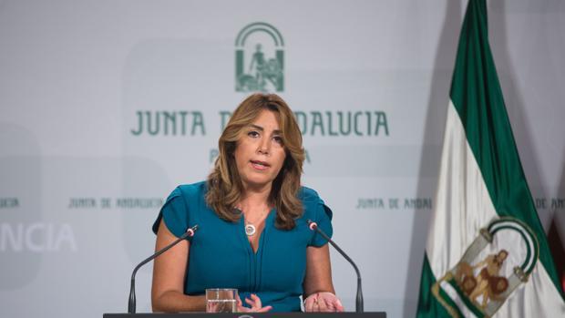 Susana Díaz, en una comparecencia reciente