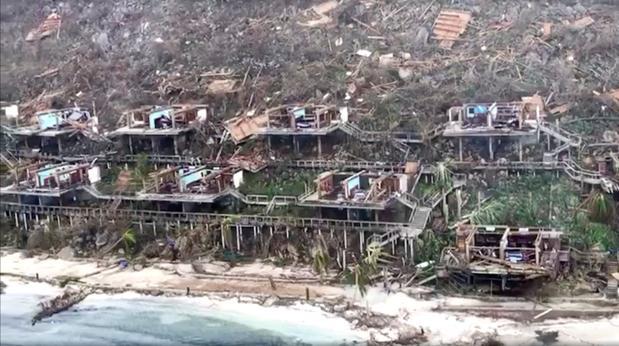 El huracán Irma, en una vista aérea, a su paso por las Islas Vírgenes