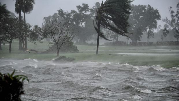 La fuerza del huracán Irma, en los Cayos de Florida