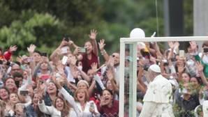 El Papa, durante su visita a Medellín