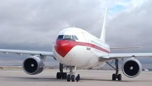 Imagen del A310 antes del despegue desde Torrejón de Ardoz