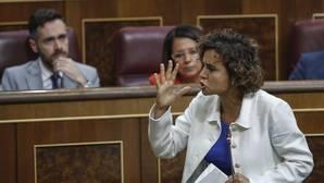 La ministra de Sanidad, Dolors Montserrat, esta mañana en el Congreso