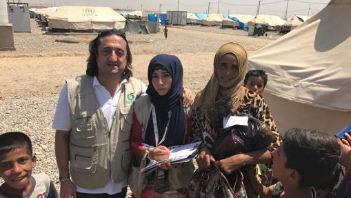Andrés lleva en Iraq tres años