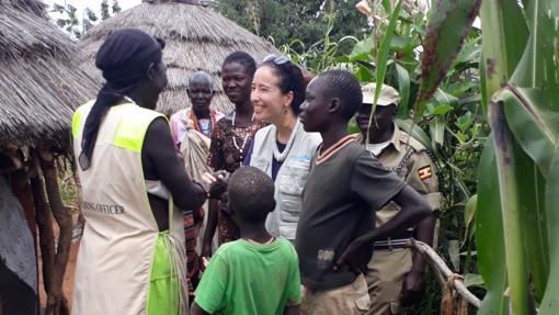 proyecto de UNICEF sobre nutrición y saneamiento con miembros de una comunidad de Kaabong, Karamoja, Uganda.