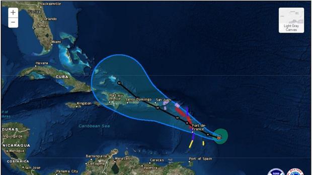 La tormenta tropical «María» se ha convertido en un huracán categoría 1 en el transcurso de la tarde