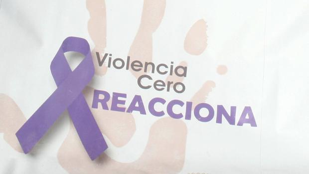 Lazo en una manifestación de protesta contra la violencia de género