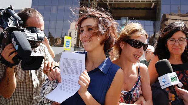Juana Rivas, a la salida del juzgado el pasado mes de agosto