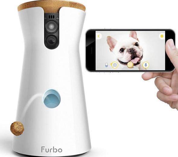 Furbo es la primera cámara para perros conectada que lanza sus galletas favoritas y al mismo tiempo permite a los dueños jugar con sus mascotas a distancia