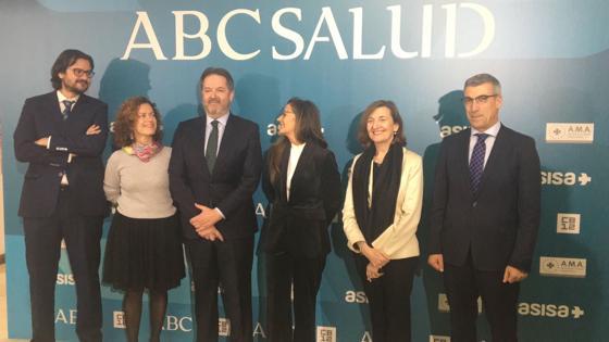 El director de ABC, Bieito Rubido, con los invitados