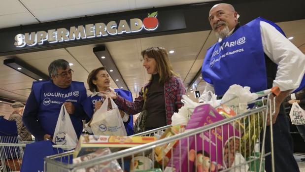 Campaña de recogida del Banco de alimentos en los supermercados