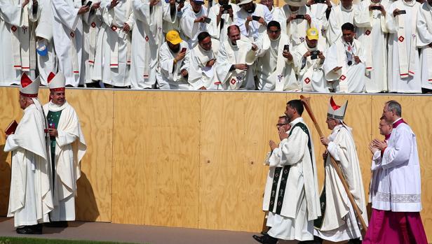 El Papa llega al parque O'Higgins