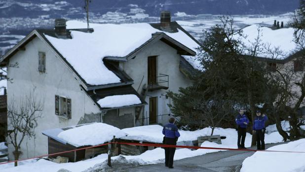 Fotografía de archivo de la Policía suiza