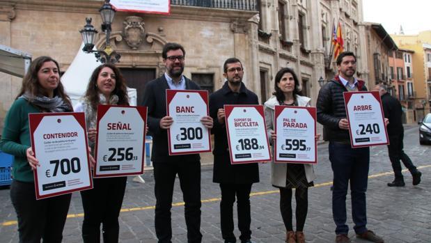 Imagen de la presentación de la campaña «Cuidar de Palma no tiene precio»