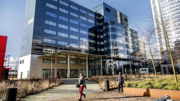 Vista exterior del edificio Spark, la acomodación temporal para la Agencia Europea del Medicamento (EMA, por sus siglas en inglés), en Ámsterdam (Holanda)