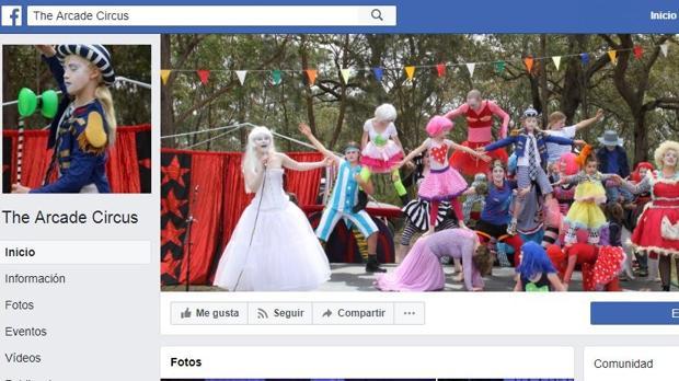 Página de Facebook del circo Arcade
