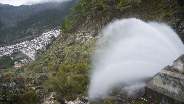 Grazalema, el punto de España donde más llueve pero que hasta estas últimas borrascas estaba en sequedad