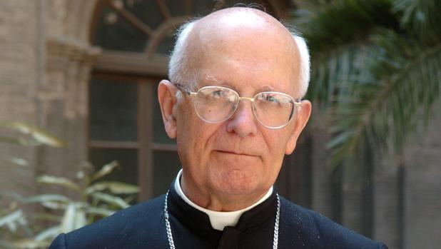 Monseñor Elías Yanes, en su despedida como arzobispo de Zaragoza después de veintiocho años en el cargo