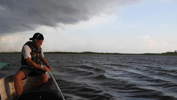 En el Amazonas grabando delfines de agua dulce