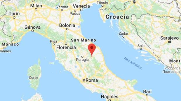Imagen de la zona donde se ha producido el terremoto en Italia