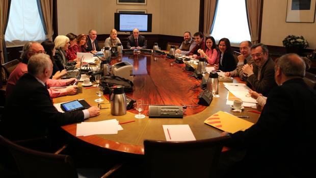 Reunión de la Subcomisión donde se ha negociado el Pacto por la Educación
