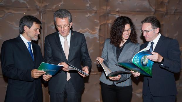 De izq a der, A. Castiñeira, A. Pes, L. Arroyo y J Giró