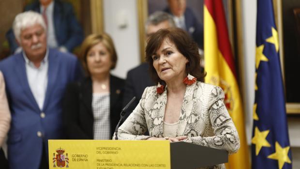 La vicepresidenta del Gobierno y ministra de Igualdad, Carmen Calvo