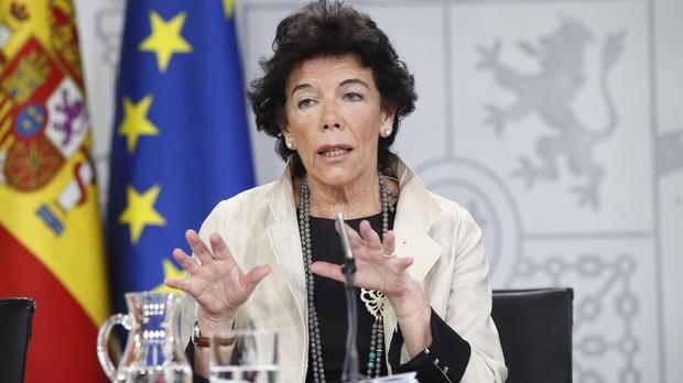 La ministra de Educación y Formación Profesional, Isabel Celáa