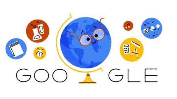 El doodle de google dedicado a los profesores