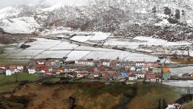 Vista de Pajares, en Asturias, este lunes