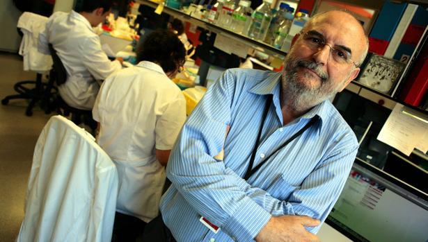 El científico Manuel Perucho en el laboratorio del Instituto de Medicina Predictiva del Cáncer