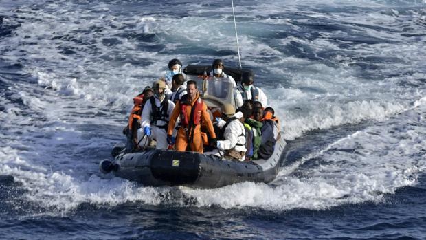 Imagen de archivo de la llegada de inmigrantes a Canarias