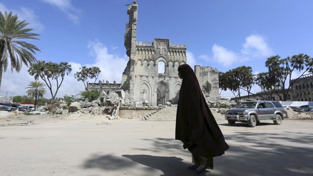 Imagen de archivo de una mujer en Somalia