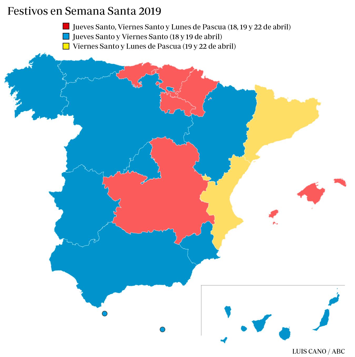 Festivos Semana Santa 2019
