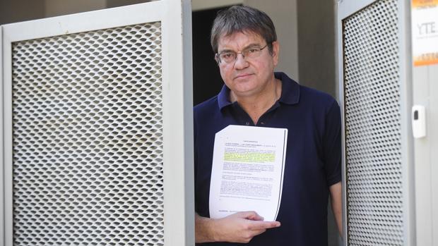 Agustín Fernández, padre de alumnos de una escuela de Mataró