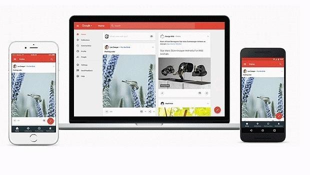 Detalle del nuevo Google Plus