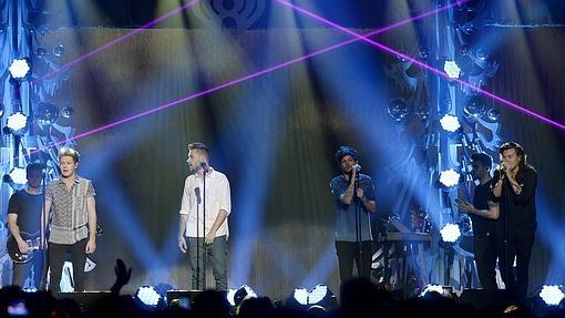 One Direction, en una actuación en Nueva York