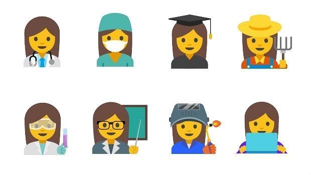 Google quiere más «emojis» de mujeres para fomentar la igualdad