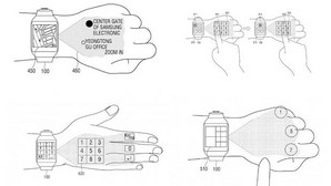 Una nueva patente de Samsung describe un «smartwatch» con proyección táctil