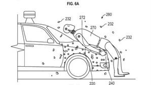 Google patenta un capó pegajoso para proteger a los peatones de posibles atropellos de su coche autónomo