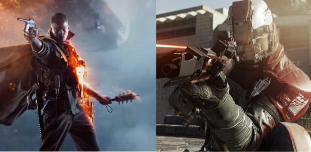 Captura de «Battlefield 1» y de «Call of Duty: Infinite Warfare»