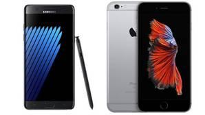 El Samsung Note 7 frente al iPhone 6S Plus: ¿cuál es mejor?