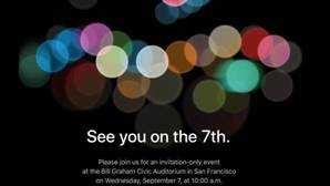 Apple presentará el iPhone 7 el 7 de septiembre