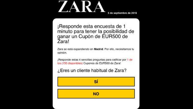 WhatsApp:  Regresa el fraude de los vales descuento en Zara