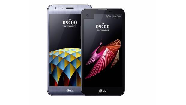 Mira en el carrusel los diferentes modelos de dispositivos. Aquí, LG X cam y LG X screen