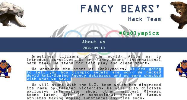 ¿Qué se esconde tras los «Fancy Bears», los hackers «vengadores» antidoping?